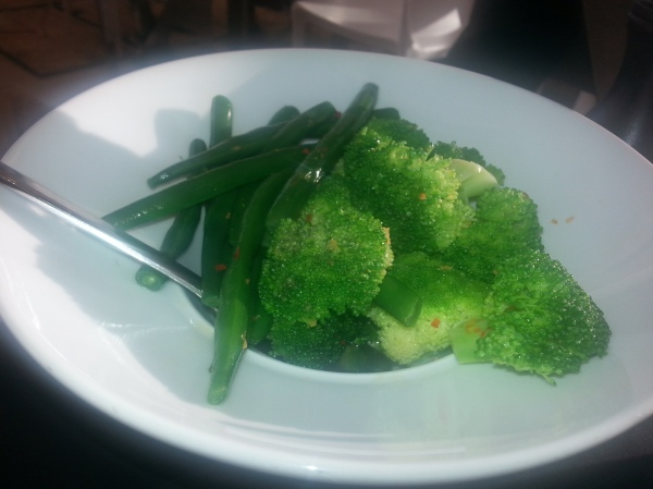 Steamed seasonal vegetables, lemon, chilli Ripples Milsons Poin review