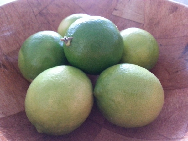 Fresh limes, guacamole,chilli con carne,  recipe