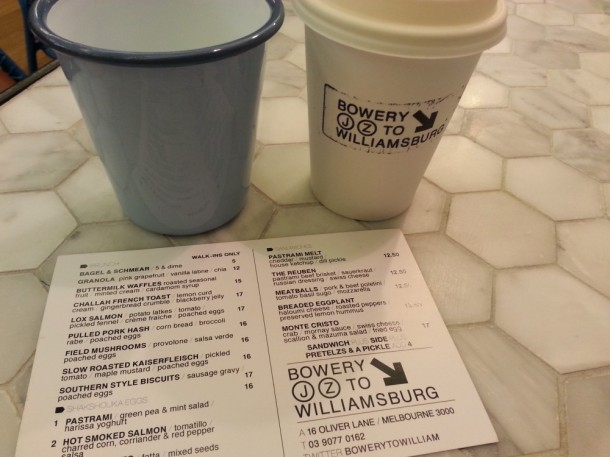 Bowery to Williamsburg, Melbourne, cafe, CBD, breakfast, lunch, review