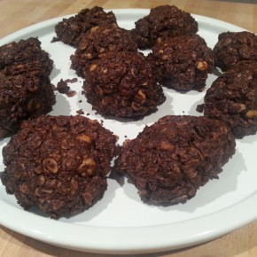 No added sugar nutty chocolate-oatcookies