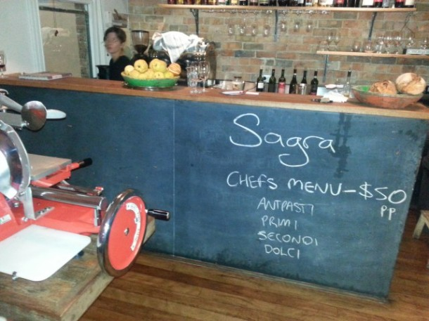 Sagra, Sydney, restaurant, review, Darlinghurst, menu