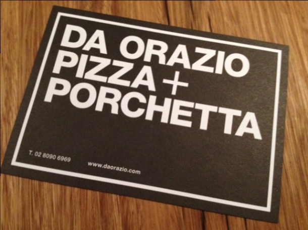 Da Orazio Pizza and Porchetta, Bondi, pizza, pork, review, menu, restaurant, Italian