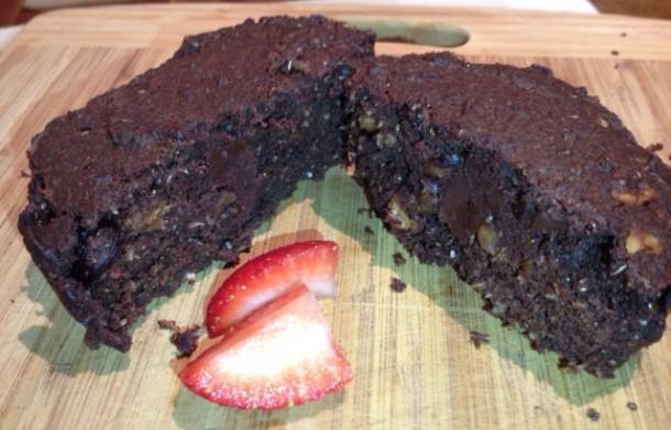 Sugar free nutty jaffa brownies, recipe, chocolate