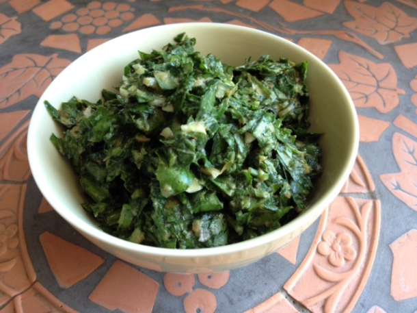 Recipe for salsa verde with basil, mint & parsley