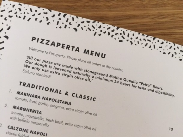 Pizzaperta, The Star, Pyrmont, menu