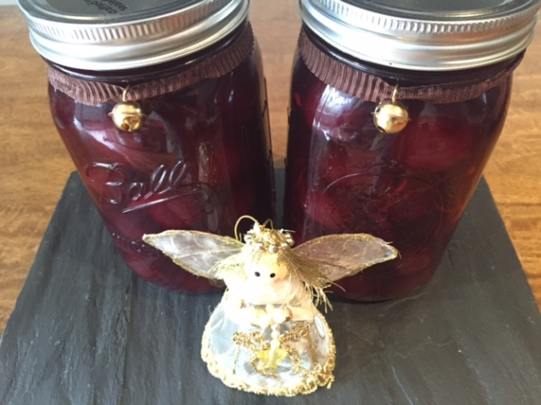 Pickled & spiced cherries recipe