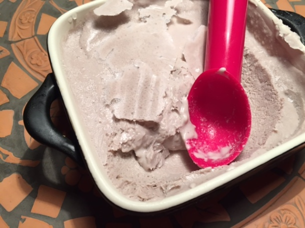 Coconut milk banana ice cream , recipe, paleo