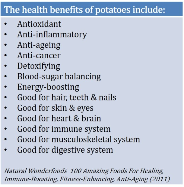 Potatoes benefits