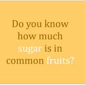 How much sugar is infruit?