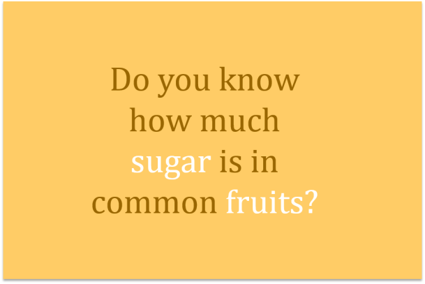 sugar in fruit