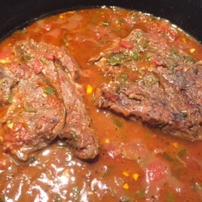 Slow-cooked beef Mexican style
