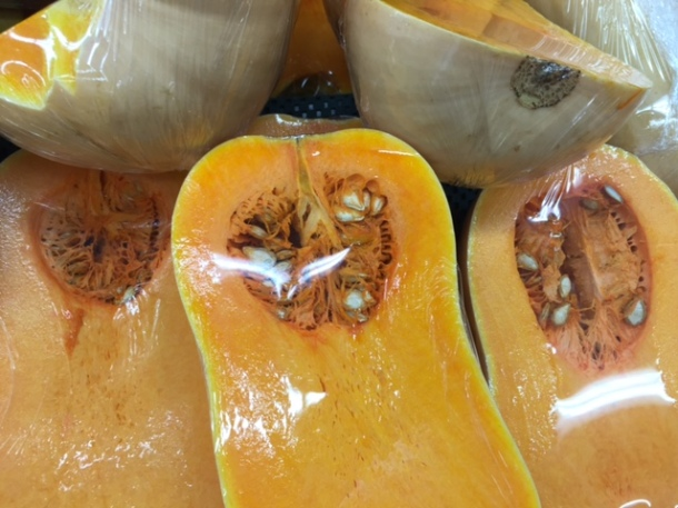 Chestnut soup with pumpkin or parsnips