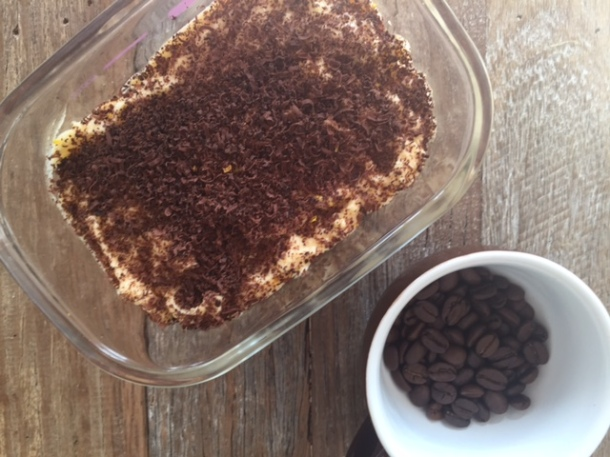 Tiramisu with extra chocolate (& no added sugar)