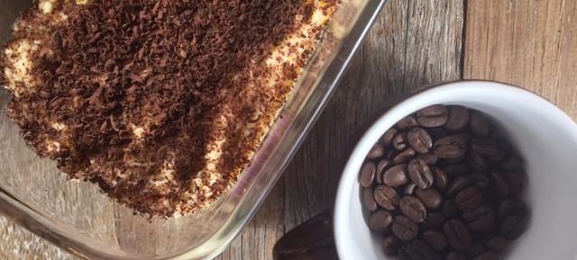 Tiramisu with extra chocolate (& no added sugar)