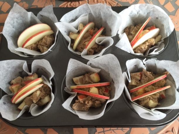 Ginger & apple muffins