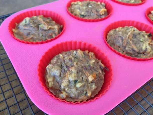 Banana veggie muffins