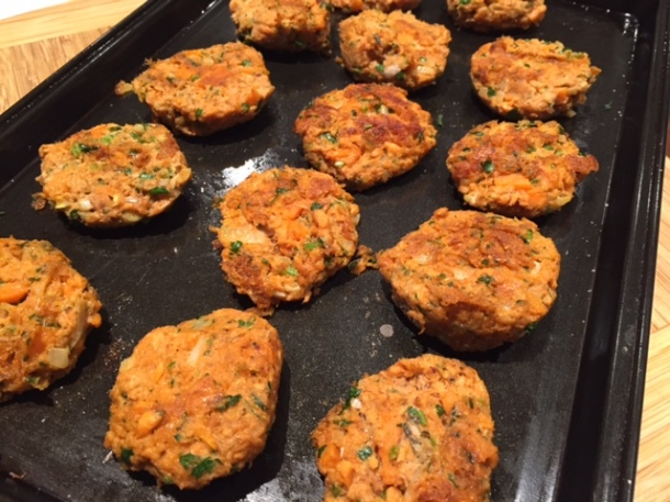 Salmon & sweet potato fishcakes