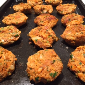 Fishcakes with salmon & sweet potato