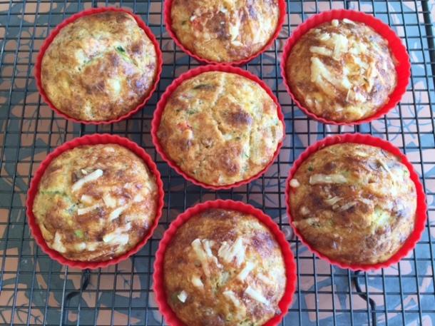 age cheese, zucchini & parmesan muffins