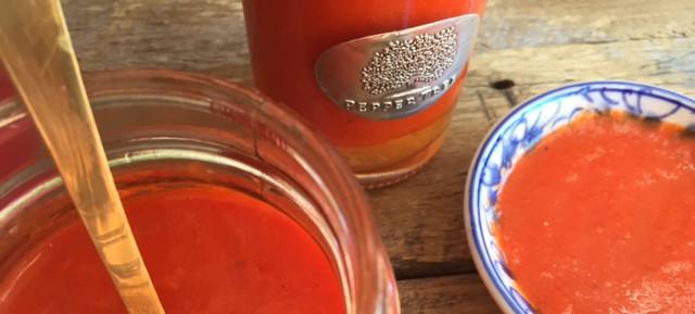 Roasted red pepper (capsicum) sauce