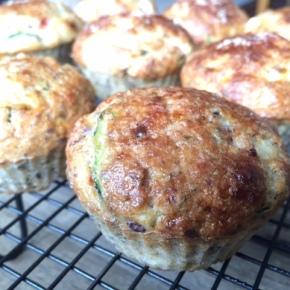 Cottage cheese, zucchini & parmesan muffins (glutenfree)