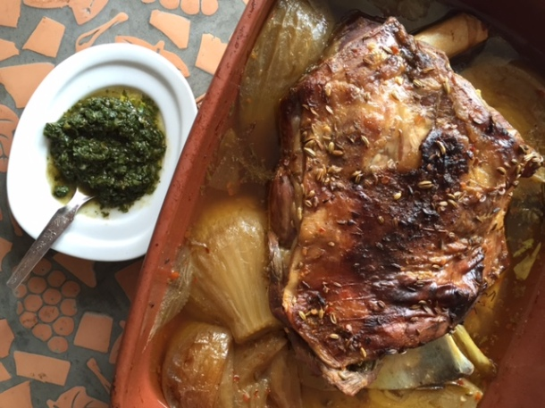 Lamb shoulder - slow cooked with rosemary & fennel