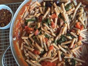 "Quinoa pasta ""puttanesca"" (glutenfree)"