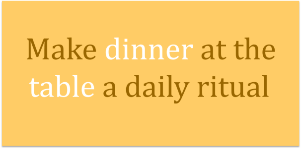 My 3 top food rituals to live by