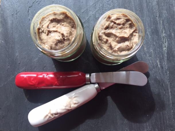Creamy organic chicken liver pate