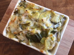 Leek & cheese vegetarian bake
