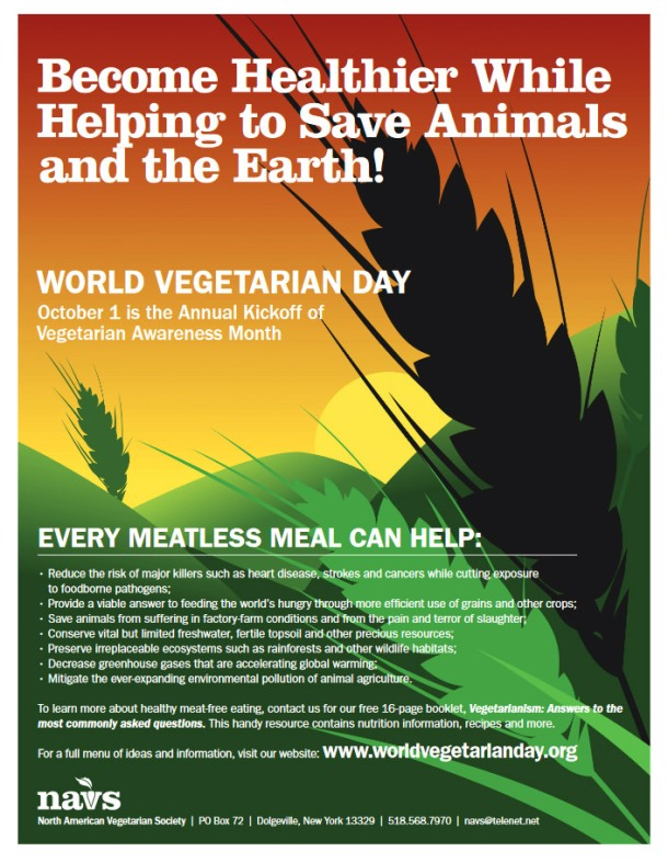 World Vegetarian Day Poster