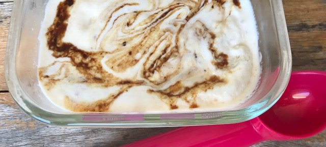 Homemade 'Fig Ripple' Ice Cream