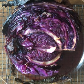 Roasted red cabbage steaks