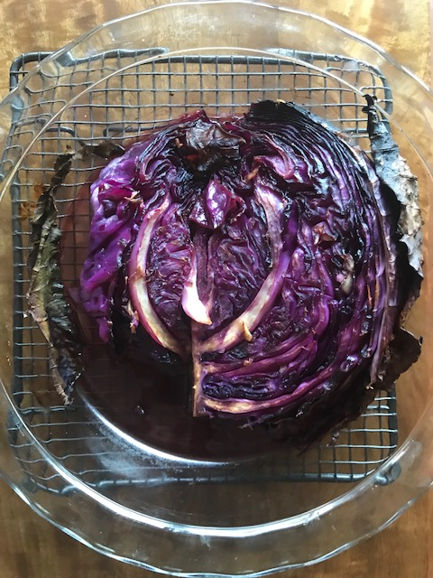 Roasted red cabbage steaks/wedges