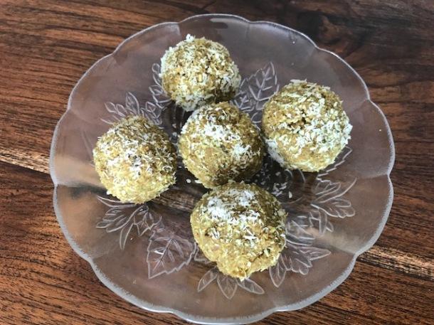 Matcha coconut balls