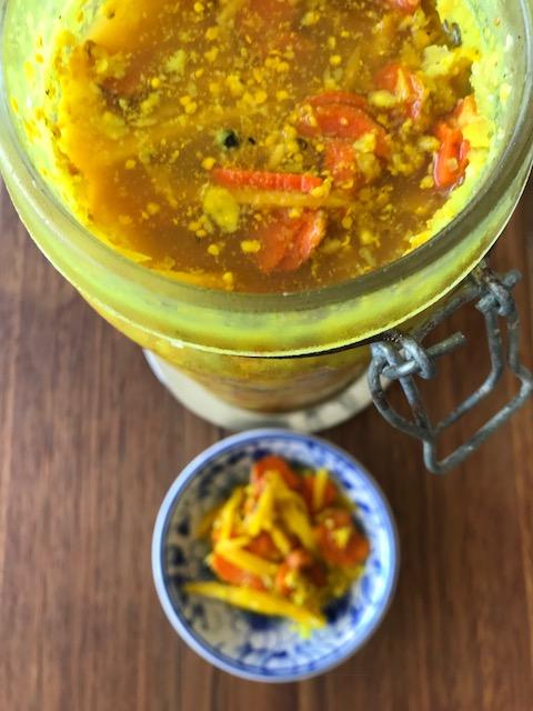 Immune boosting turmeric, ginger & garlic pickle | Feast Wisely