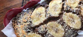 Healthy banana bread with banana flour (glutenfree)