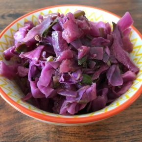 Deliciously warming cooked redcabbage